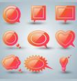 set red speech icon dialog box icon vector image