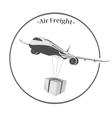 air cargo transportation vector image