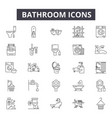 bathroom line icons for web and mobile design vector image vector image