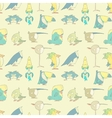 Birds Seamless Background pattern for design and vector image vector image