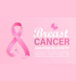 breast cancer awareness month banner vector image