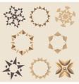 Brown Elementory ornament set vector image vector image