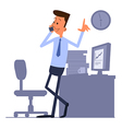 Businessman standing and talking on the phone vector image vector image