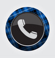 button blue black tartan - old telephone handset vector image