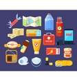 Camping Emergency Kit vector image vector image