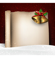 Christmas old paper background with snow vector image vector image