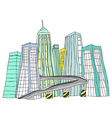City skyline Sketch vector image vector image