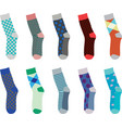 colorful set of socks vector image vector image