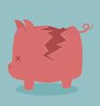 Cracking piggy bank vector image