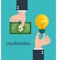 crowd funding concept icons vector image vector image