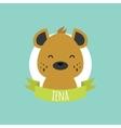 Cute Cartoon Hyena vector image vector image