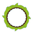 decorative frame with leaves vector image vector image