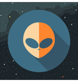 Digital with orange alien head sign vector image vector image