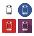 dotted icon smartphone in four variants vector image