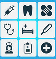 Drug icons set collection of plus injection