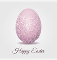 easter card with pale pink pastel easter egg vector image vector image
