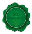 eco friendly wax seal vector image vector image