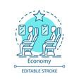 economy class concept icon airplane cabin idea