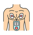 electrical muscle stimulator color icon vector image vector image