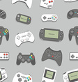 gamepad seamless background vector image vector image