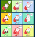 germany scotland santa clauses vector image vector image