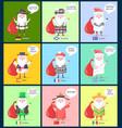 germany scotland santa clauses vector image vector image