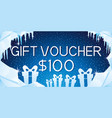 gift voucher with gift boxes vector image vector image