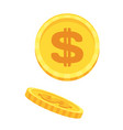 gold money cash dollar coins bank and finance vector image vector image