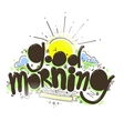 Good morning inscription vector image