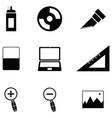 graphic design icon set vector image vector image