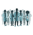 group doctors and medical staff people vector image