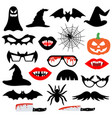halloween party photo booth props vector image