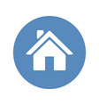 home sign placed in blue circle vector image vector image