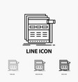internet page web webpage wireframe icon in thin vector image vector image