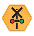 isolated transit signal vector image vector image