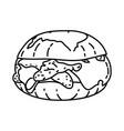 italian chicken sliders icon doodle hand drawn vector image