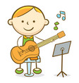 kid guitarist vector image vector image