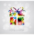 Merry Christmas Holiday with abstract gift box vector image vector image