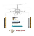 military weapon airplane or helicopter vector image vector image