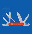 multifunctional pocket knife vector image