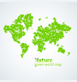 nature green map of the vector image vector image