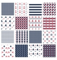 nautical or marine seamless patterns vector image vector image