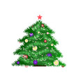 new year tree icon in the color vector image vector image
