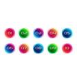 numbers set logos vector image