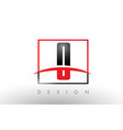 o logo letters with red and black colors and vector image vector image