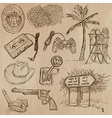Objects - an hand drawn pack vector image vector image