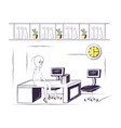 office life design vector image vector image