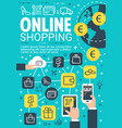 online shopping and e-commerce banner design vector image vector image