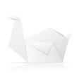 origami paper swan vector image