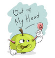 out of my head slogan concept clean mind apple vector image